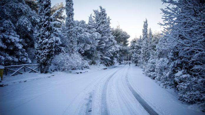 Περιοχή με χιόνια