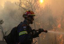 φωτιά στις Κεραμειές Κεφαλονιάς