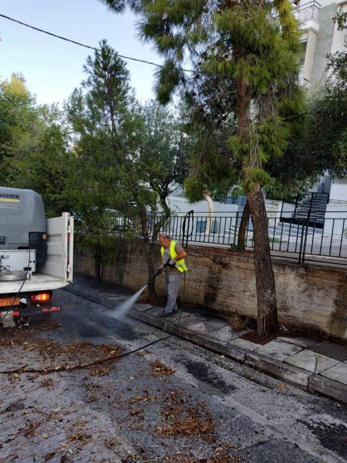απολυμάνσεις από τον δήμο Αθηνών