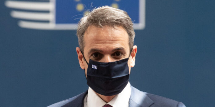 Ο Μητσοτάκης με μάσκα