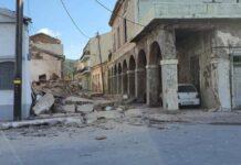 γκρεμισμένο κτήριο από τον σεισμό στην σάμο