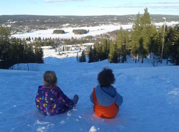 παιδιά χιόνια