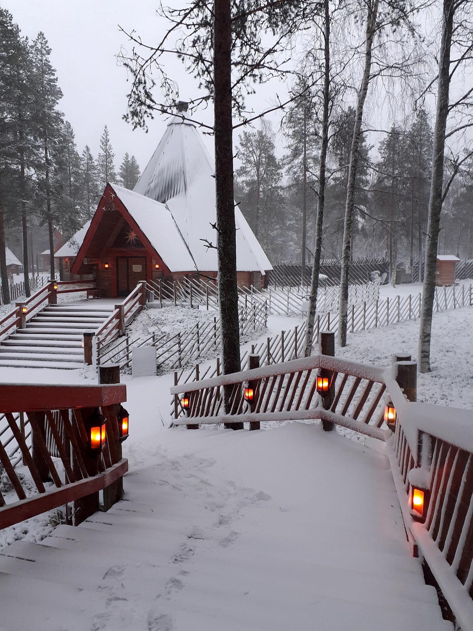 χιόνια σπίτια φώτα