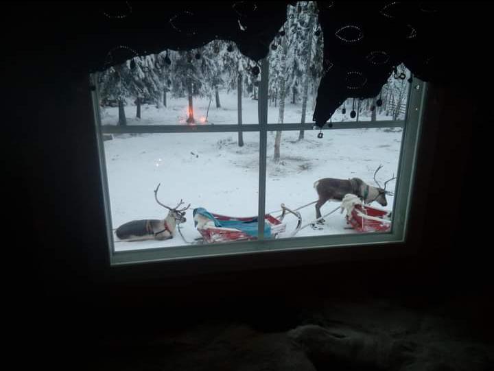 παράθυρο χιόνια