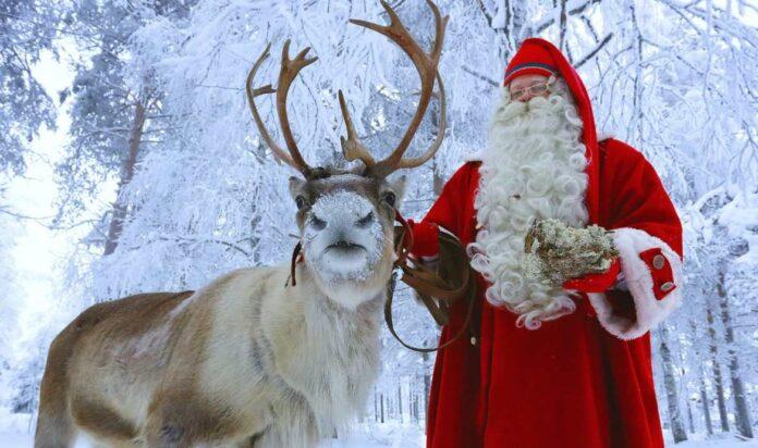 Άγιος Βασίλης με τάρανδο