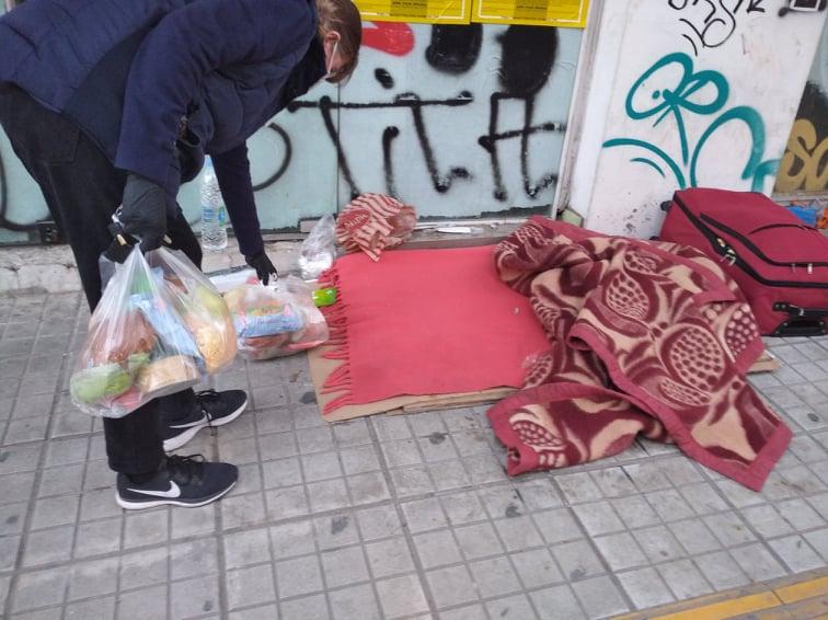 φαγητό δρόμος άστεγος
