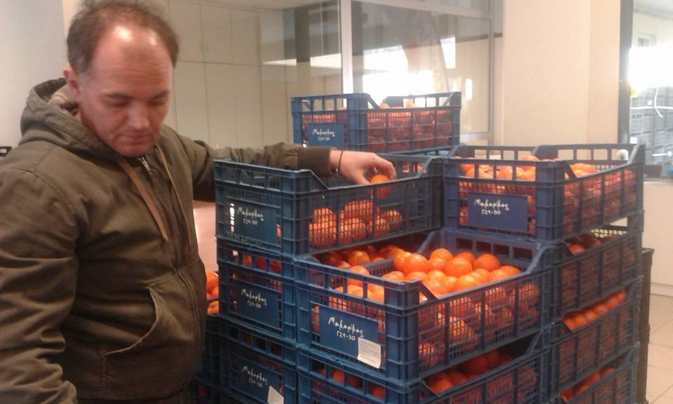 πορτοκάλια άνδρας