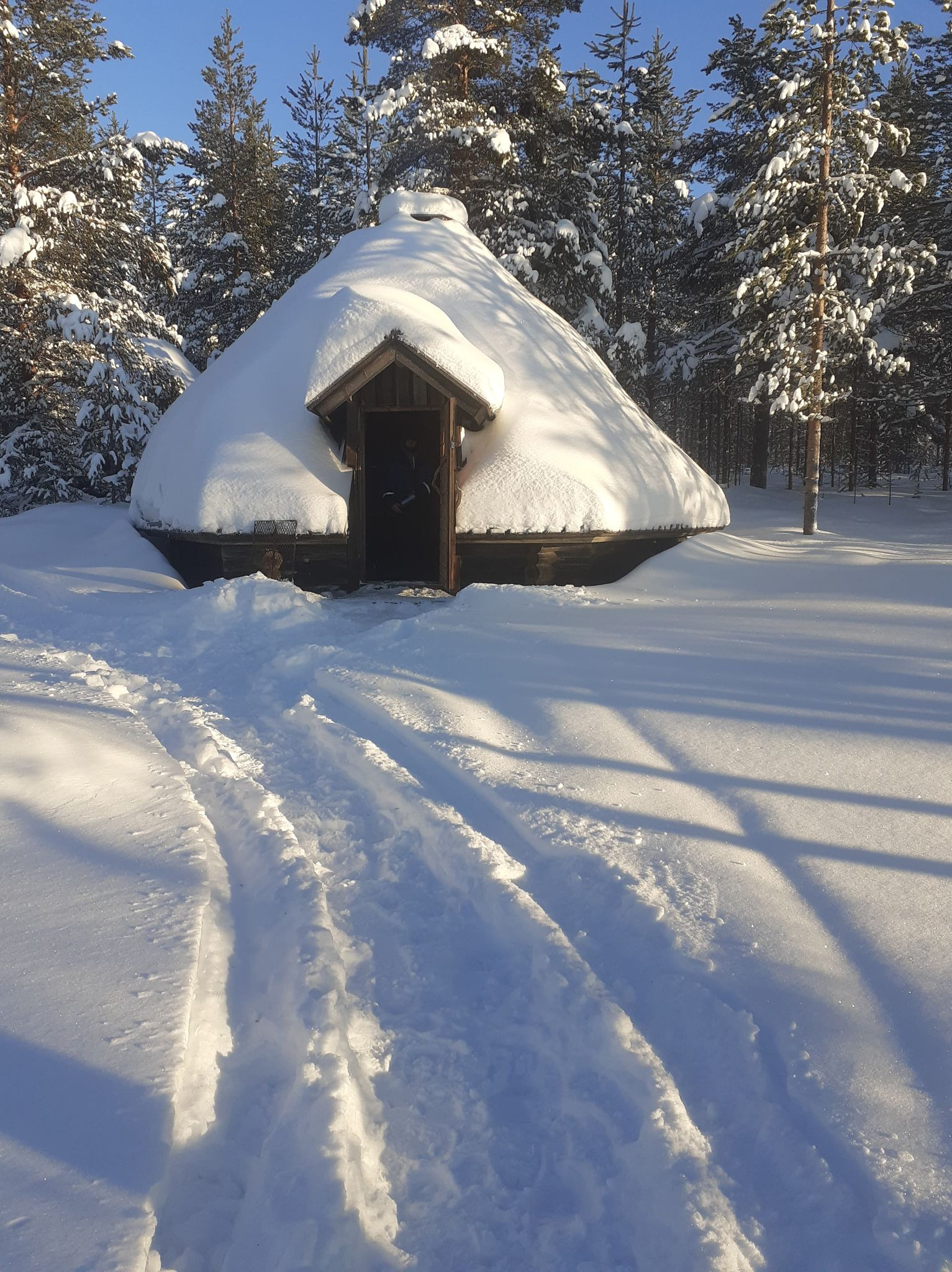 καλύβα χιόνια