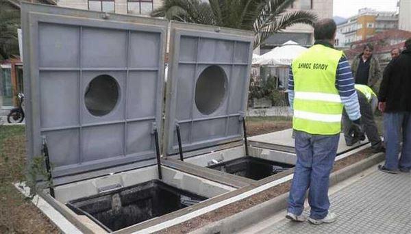 υπόγειοι κάδοι απορριμμάτων στη Θεσσαλονίκη