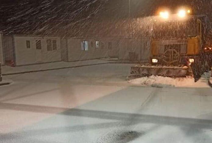 Νυμφαία,χιόνι