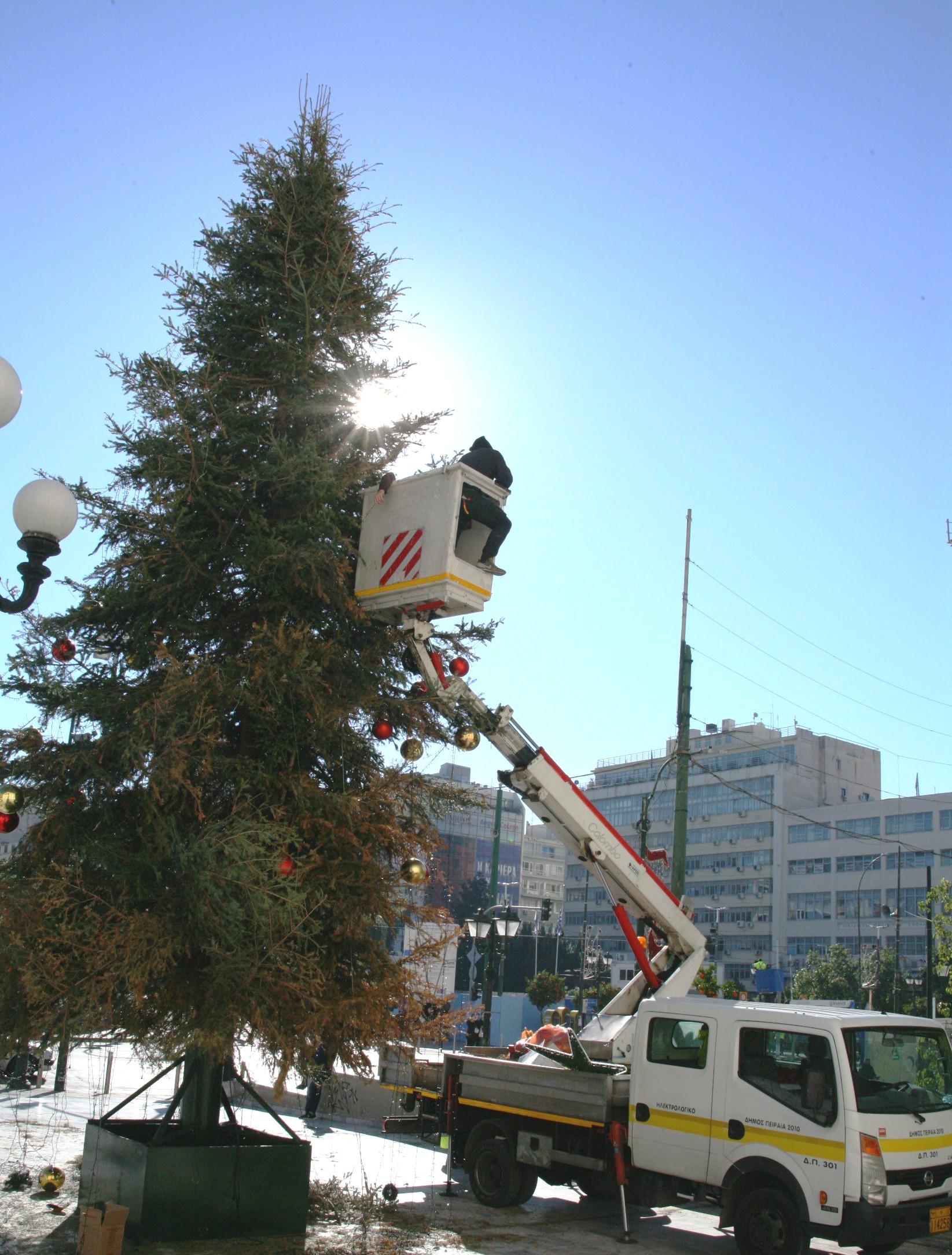 Χριστουγεννιάτικο δέντρο στον Πειραιά