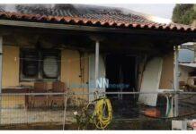 φωτιά από τζάκι σε σπίτι στη Ναύπακτο