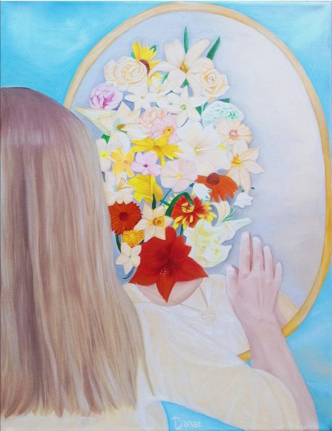 πίνακας λουλούδια