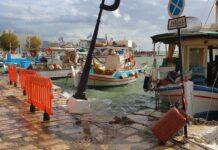 ζημιές στο λιμάνι Πυθαγορείου