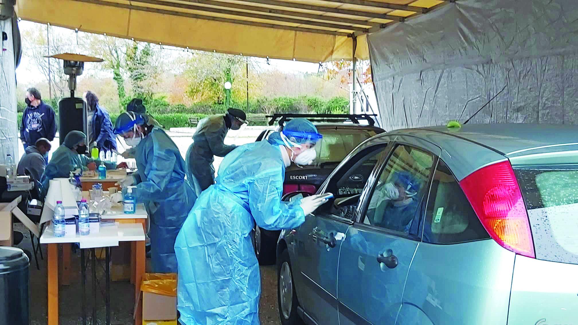 Έλεγχος rapid test στο αυτοκίνητο