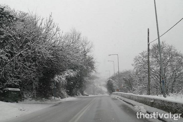 Χιόνι στη Θεσσαλονίκη