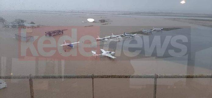 πλημμύρες στο αεροδρόμιο Αλεξανδρούπολης