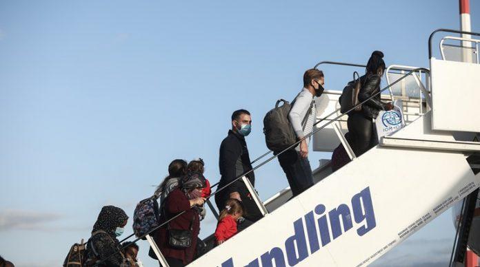 μεταφορά προσφύγων από τη Λέσβο στη Γερμανία