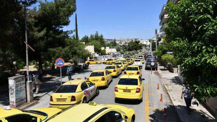 Πορεία από οδηγούς ταξί
