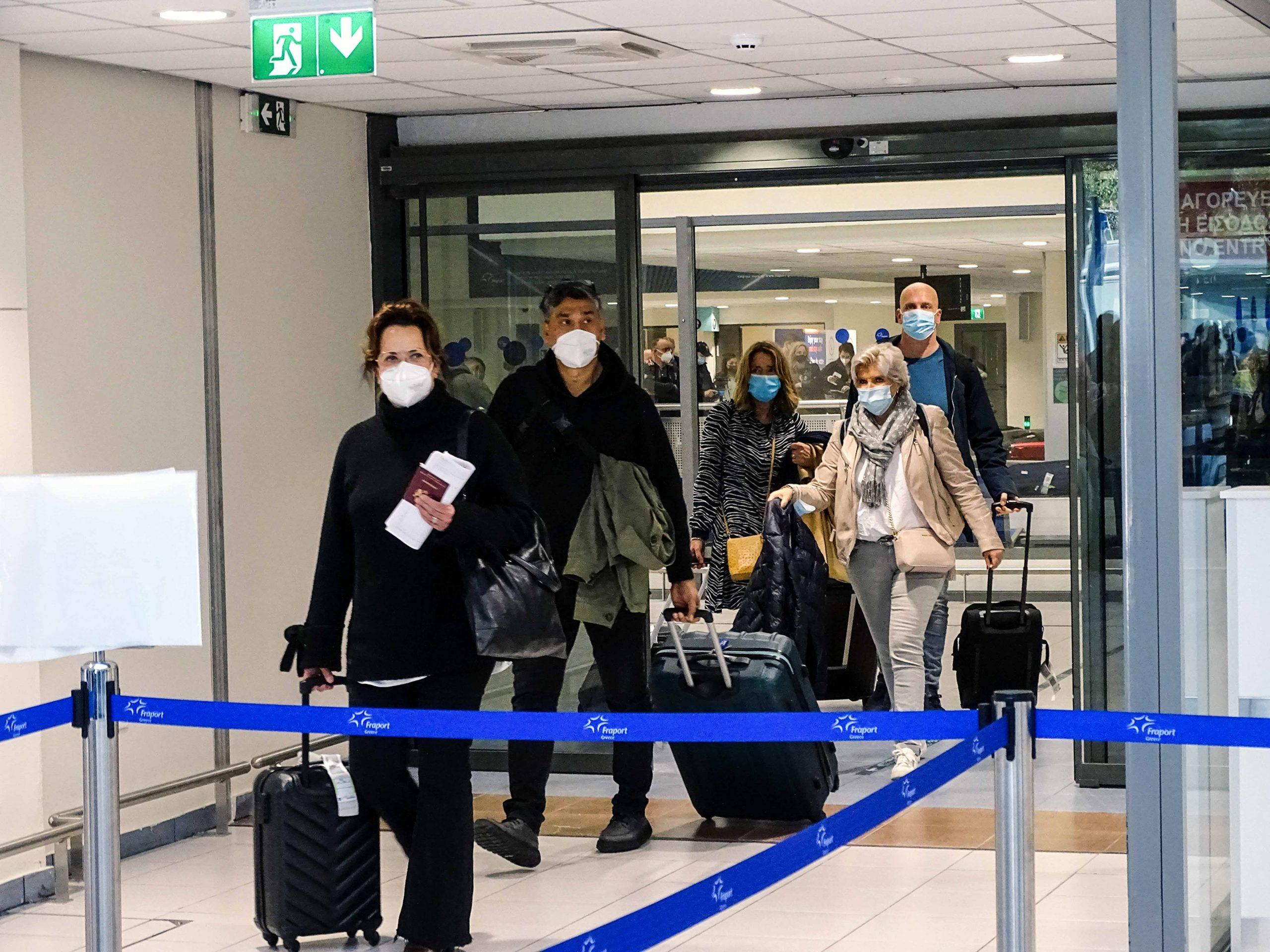 Τουρίστες στο αεροδρόμιο