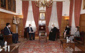 Επίσκεψη Β. Κικίλια και περιφερειακού δ/ντή ΠΟΥ στον Αρχιεπίσκοπο Ιερώνυμο