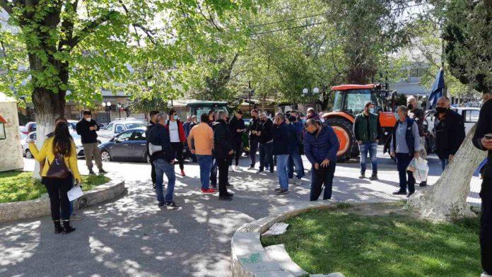 διαμαρτυρία αγροτών στη Πέλλα
