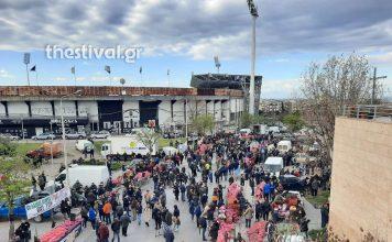 διαμαρτυρία στις λαϊκές αγορές της Θεσσαλονίκης