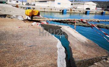 καταστροφές στο λιμάνι της Σούδας