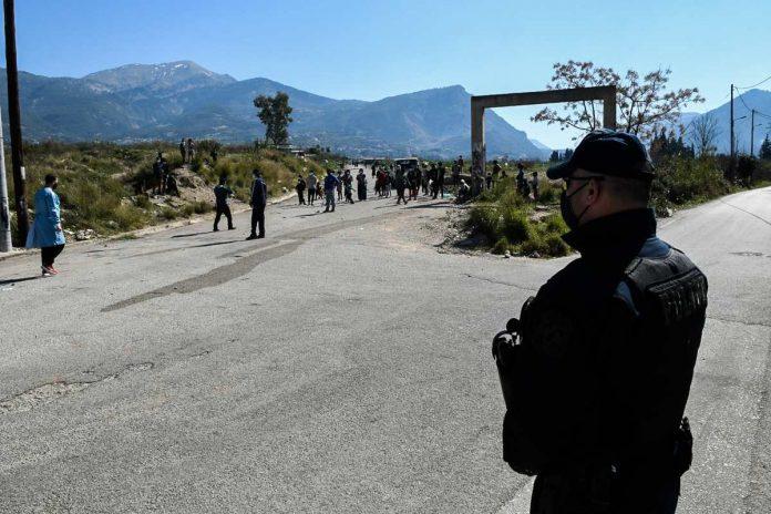 lockdown στον οικισμό Ρομά στο Νομισματοκοπείο