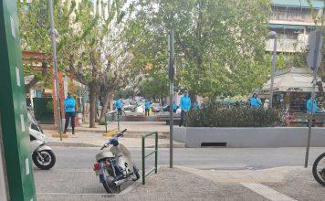 αστυνομία στην πλατεία Βαρνάβα