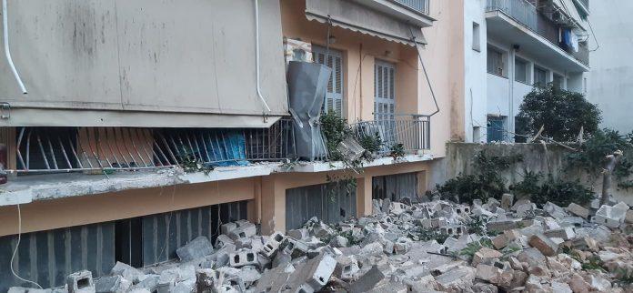 πτώση μάντρας στο Κοροπούλη