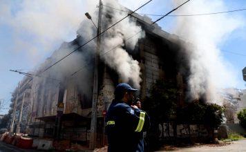 πυρκαγιά σε κτήριο της οδού Ομήρου Σκυλίτση