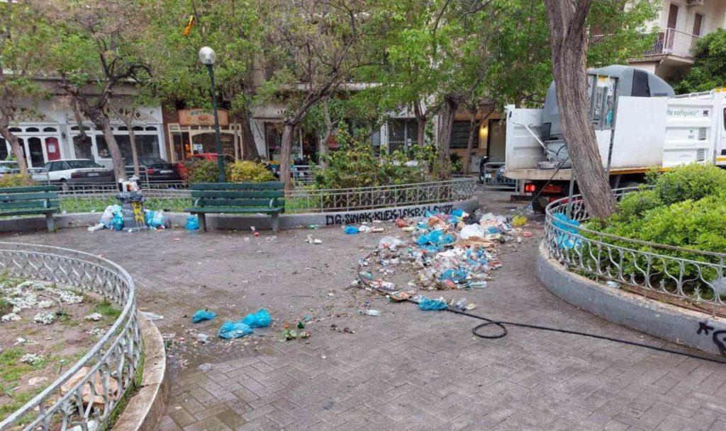 σκουπίδια στη Κυψέλη