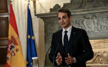 Συνάντηση του Πρωθυπουργού Κυριάκου Μητσοτάκη με τον Πρωθυπουργό της Ισπανίας Πέδρο Σάντσεθ. Δευτέρα 10 Μαίου 2021 (EUROKINISSI/ΜΙΧΑΛΗΣ ΚΑΡΑΓΙΑΝΝΗΣ)