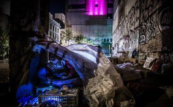 Άστεγοι στο κέντρο της Αθήνας
