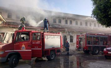 φωτιά στην αγορά Χανίων