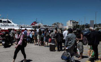 αυξημένη κίνηση προς τα ελληνικά νησιά